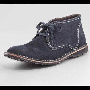 John Varvatos Blue Suede desert boots shoes 10